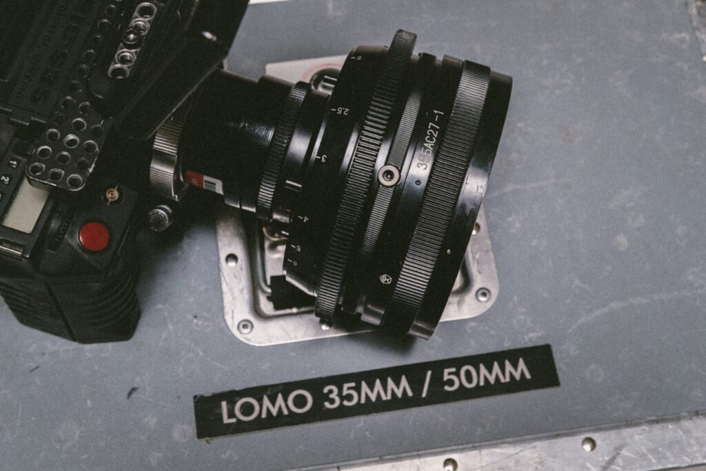 Top view of a camera lens