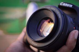 Canon camera with an STM lens