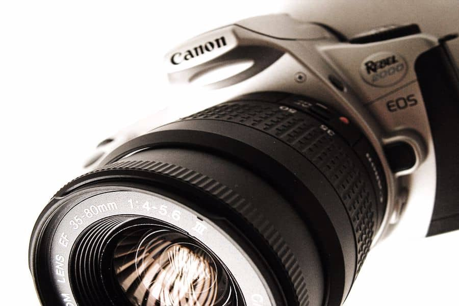 Canon camera with a 35-80mm lens