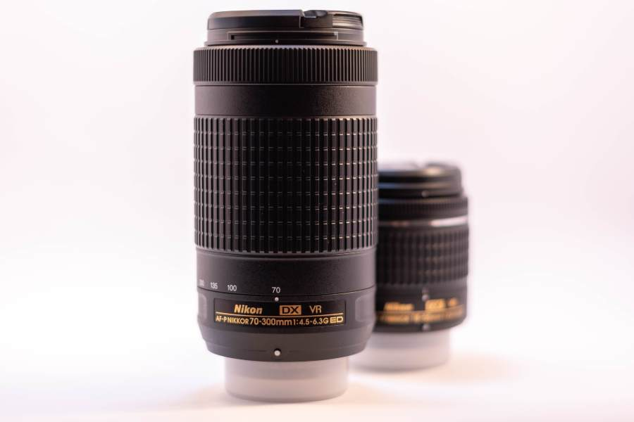 A Nikon lens used for sports photography